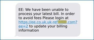 Wenn Phishing-Textnachrichten versuchen Passwörter zu stehlen