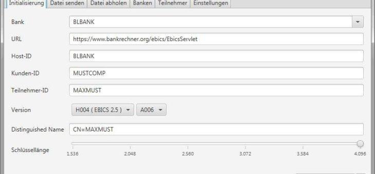 EBICS-Software für den automatisierten Zahlungsverkehr mit erweiterter Oberfläche