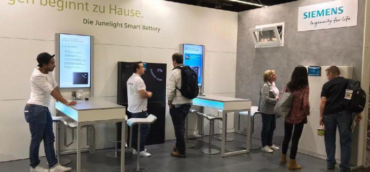 Siemens Junelight Speicher für Solaranlagen auf der Consumenta 2019