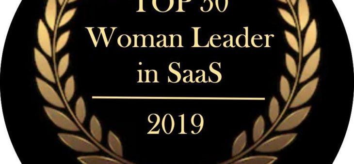 Jessica Venturini wird als eine der Top 50 weiblichen Führungskräfte im Bereich SaaS 2019 ausgezeichnet