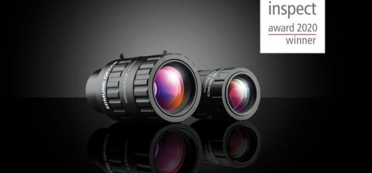 Edmund Optics® gewinnt zum vierten Mal in Folge den inspect Award – dritter Platz für neue CA-Objektivserie