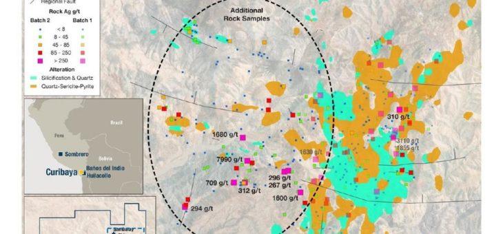 Auryn erweitert hochgradige Zone auf Curibaya um 1,5 Kilometer mit zusätzlichen hochgradigen Silber-, Gold- und Kupferproben