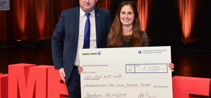 Meisterfeier: Jahrgangsbeste 2019 ist Konditormeisterin Ana Celina Jimenez Hamm