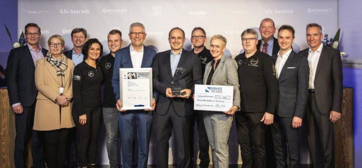 Bester Autoservice Deutschlands: Beresa OWL gewinnt den Service Award 2019