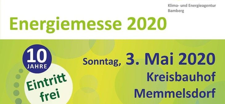 Energiemesse 2020 in Bamberg