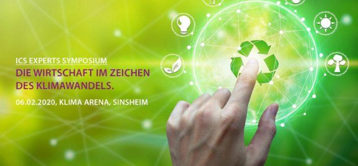 ICS Experts Wirtschafts- & Umweltsymposium am 06.02.2020 in der neuen KLIMA ARENA in Sinsheim
