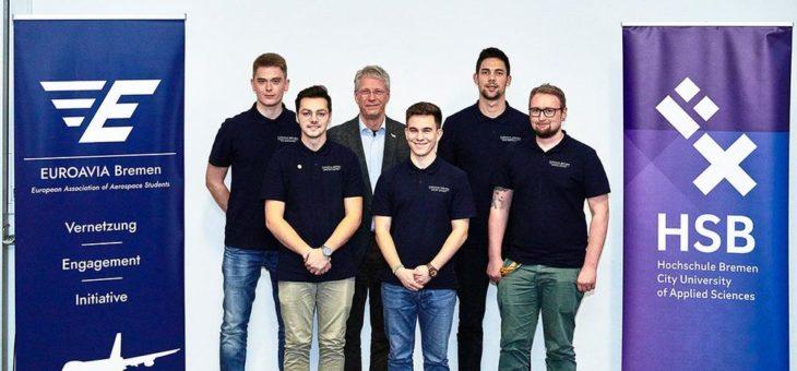 Astronaut Thomas Reiter war Gast-Referent an der Hochschule Bremen