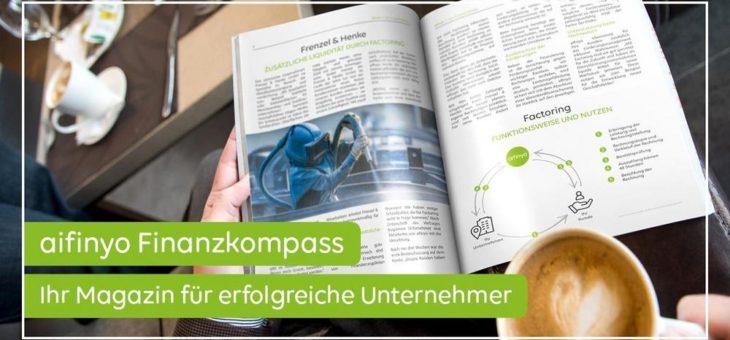 aifinyo Finanzkompass 11/2019: Das erwartet Sie im Magazin für erfolgreiche Unternehmer!