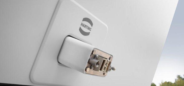 """HARTING Schnittstelle liefert Power, Data, Signal für den """"metroSNAP"""""""