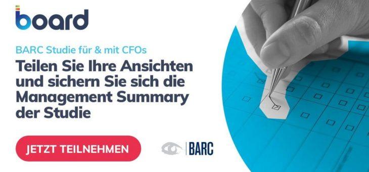 Board unterstützt exklusive CFO-Befragung von BARC zu integrierter Planung und Prognose