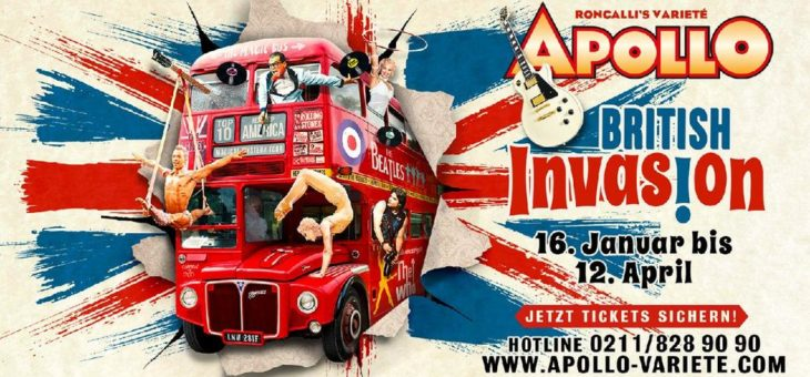 British Invasion – neue Show in Roncalli's Apollo Varieté