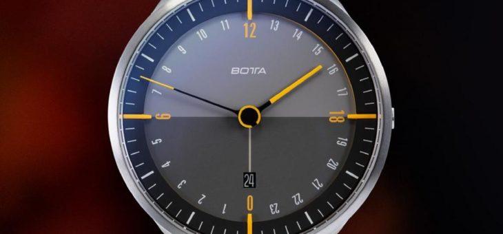 TRES24 plus titan – die neue 24-Stunden Dreizeigeruhr von BOTTA in geschütztem Design, dreiteiligem Titangehäuse und mit Sekundenindikator