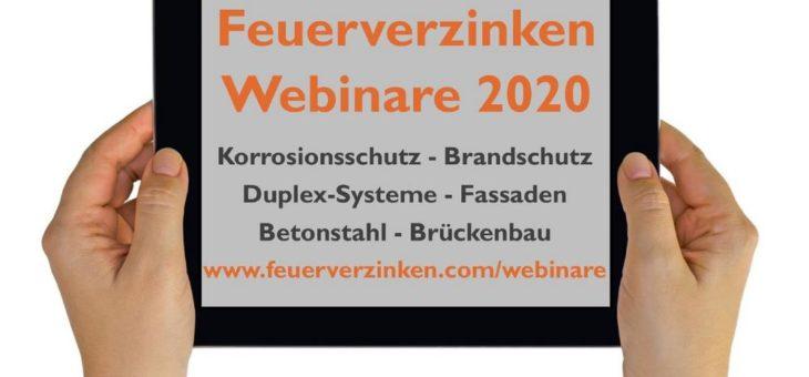 Live-Seminare im Netz – Institut Feuerverzinken erweitert sein kostenloses Webinar-Angebot