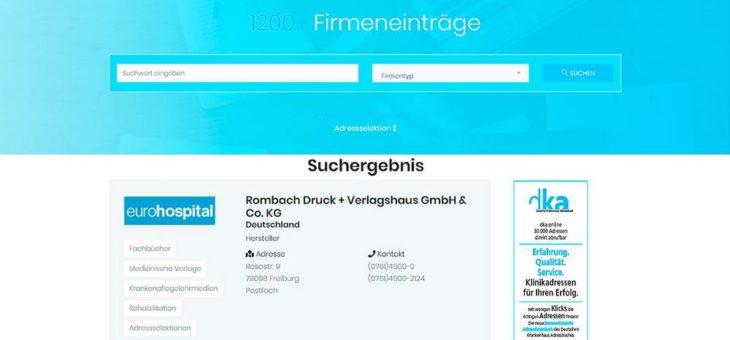 eurohospital der digitale Einkaufsführer für den professionellen Klinikbedarf