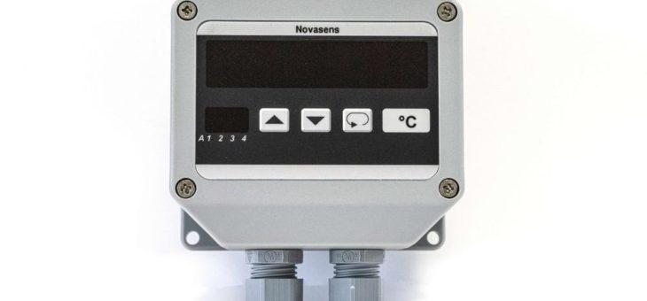 Robustes Temperaturmessgerät novasens DP1005 für Thermoelemente Pt100 und Pt1000