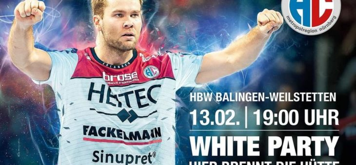 "HC Erlangen: ""White Party"" gegen Balingen"