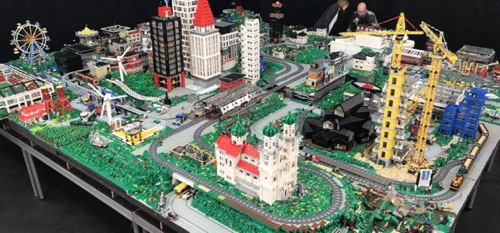 LEGO-Stadt auf Modellbaumesse 2020 in Erfurt