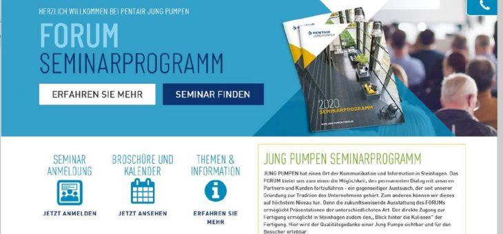 Seminarangebote Pentair Jung Pumpen 2020