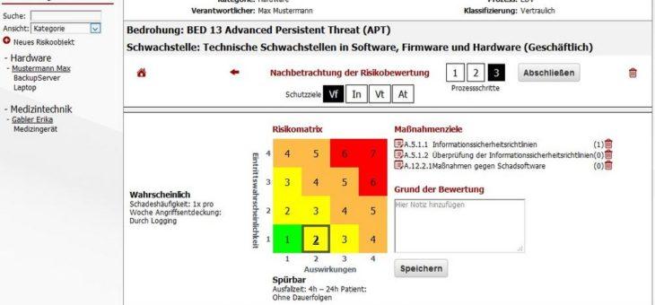 Spezielle IT-Risikomanagement Software für das Krankenhaus vorgestellt