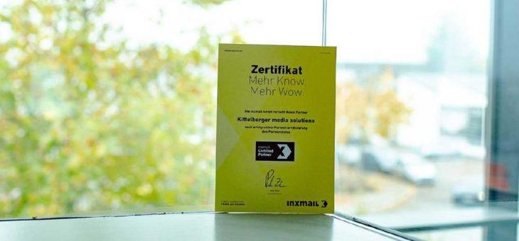 Kittelberger ist zertifizierter Inxmail Partner