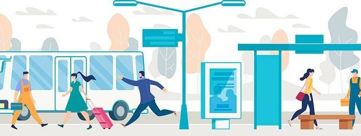 Gefahrenbereich Bushaltestelle