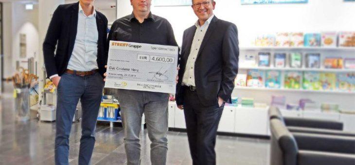 """4.600 Euro Spende für die Spendenaktion """"Das Goldene Herz"""" der Braunschweiger Zeitung"""