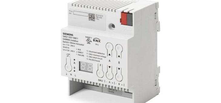 Neuer KNX-Aktor von Siemens verbessert Kosten und Energieeffizienz für DALI-Lichtsteuerung