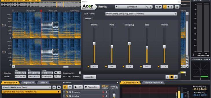 Acon Digital veröffentlicht Acoustica 7.2 mit KI basierender Stem Separation