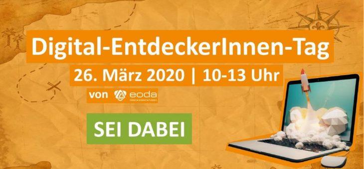 Digital-EntdeckerInnen-Tag am 26. März 2020