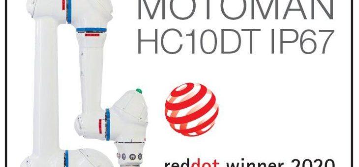 Kollaborativer Roboter Motoman HC10DT IP67 erhält Red Dot für herausragende gestalterische Qualität