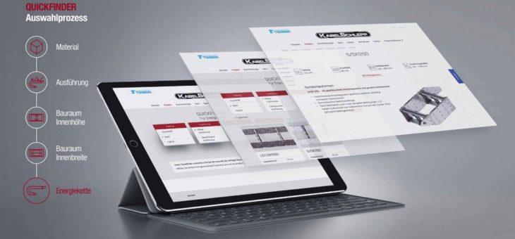 TSUBAKI KABELSCHLEPP bietet digitale Orientierungshilfe