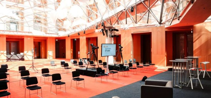 """Live-Stream und Video-Conferencing: Berliner Eventlocation Axica Launcht """"Live Central Studio"""""""