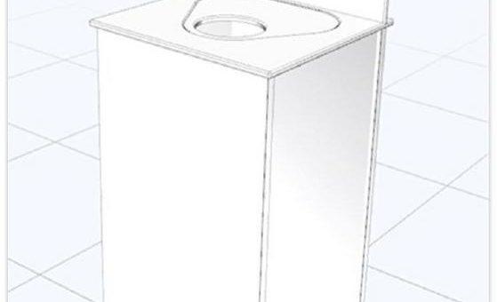 Neu entwickelte mobile Hygienestation mit antibakterieller Oberfläche