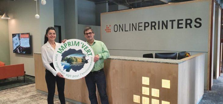 Grün drucken: Onlineprinters erneuert Imprim'Vert® -Siegel