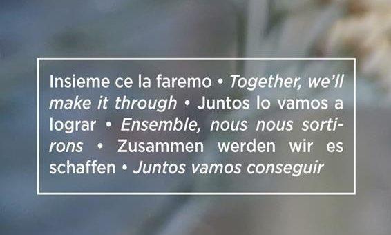 Zusammen werden wir es schaffen – together, we'll make it through!
