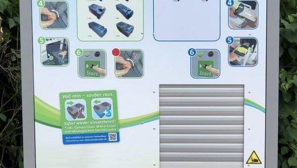 CamperClean, Erfinder der vollautomatischen und patentierten Reinigungsstation
