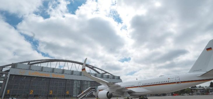 Umbau von Airbus A350 für die Flugbereitschaft der Bundesregierung  beginnt