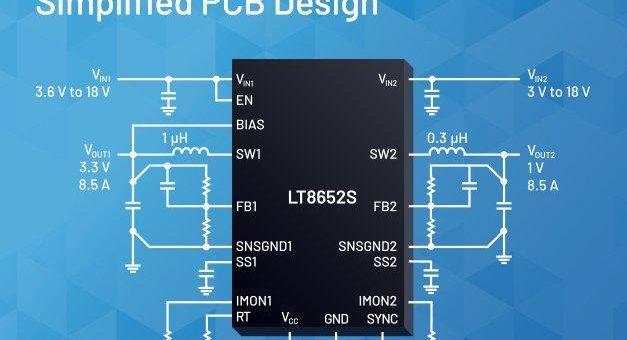 Dual-Silent-Switcher-Serie von Analog Devices produziert extrem geringe Störemissionen und erlaubt vielfältige  Ausgangsstrom-Konfigurationen