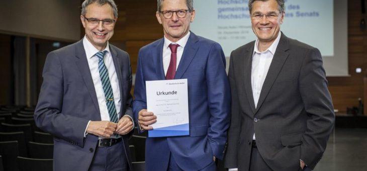 Dr. Karl Lamprecht neuer Vorsitzender des Hochschulrats der Hochschule Aalen