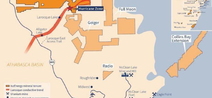 IsoEnergy schließt Überprüfung des Winter-Bohrprogramms in der Hurricane-Uran-Zone ab