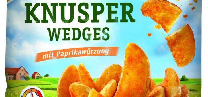 Knusper Wedges: die neuen, superkrossen Kartoffelspalten
