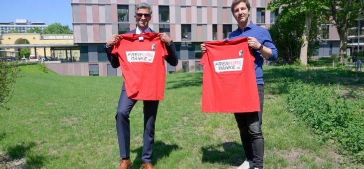 "Sport-Club übergibt 1100 ""Danke""-Shirts an Freiburger Uniklinik"