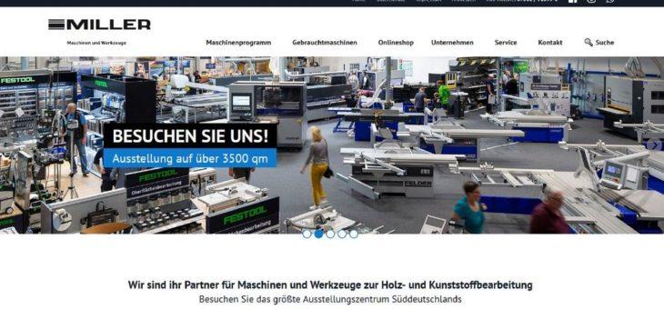 Relaunch der Homepage von Miller Maschinen und Werkzeuge