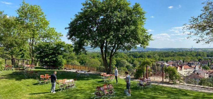 Biergarten »Grimms Garten« auf dem Weinberg öffnet am 20. Mai – pünktlich zum Pfingstwochenende
