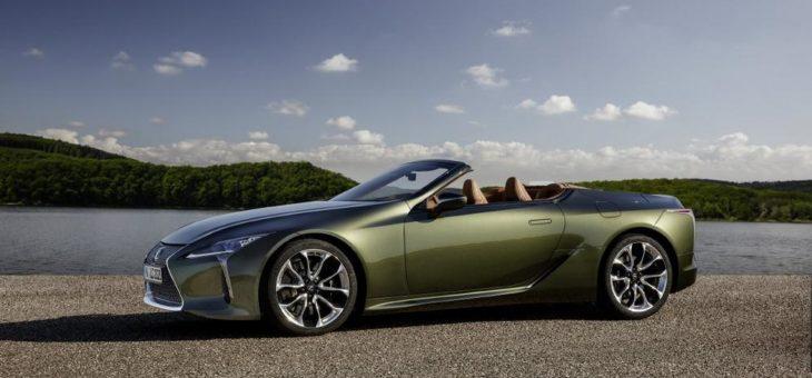 Neues Lexus LC Cabriolet ab sofort bestellbar (Kraftstoffverbrauch kombiniert 12,6 l/100 km; CO2-Emissionen kombiniert 288 g/km)