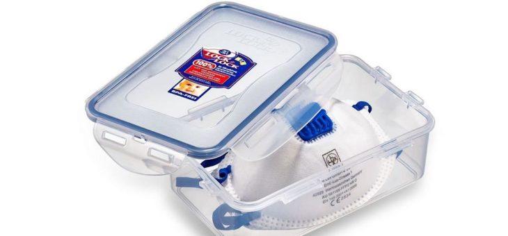Aufbewahrungsbox für Mundschutzmasken