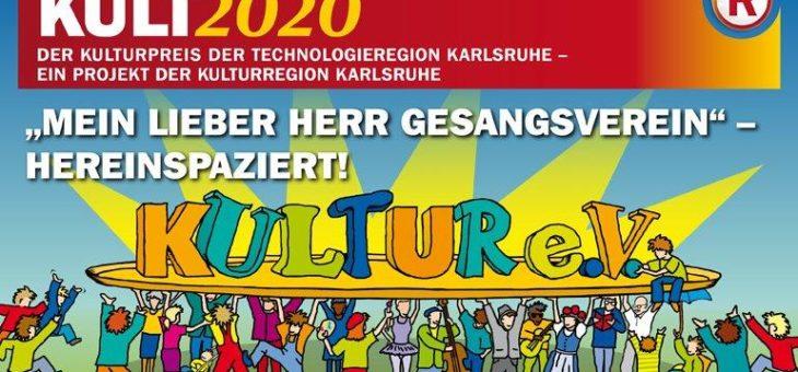 """KULT2020 – Aktuelle Ausschreibung des Kulturpreises der TechnologieRegion Karlsruhe: """"Mein lieber Herr Gesangsverein"""" – hereinspaziert!"""