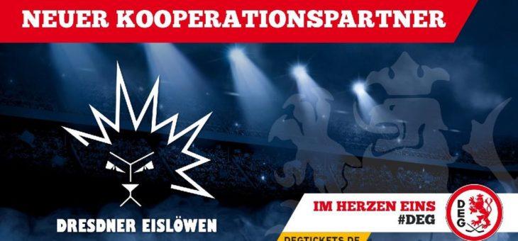 Dresdner Eislöwen sind neuer Kooperationspartner der DEG
