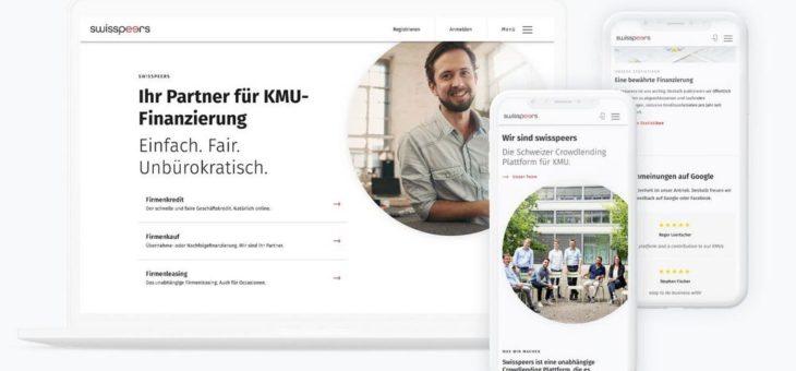 Neuer Swisspeers Onlineauftritt mit Unterstützung der UI-/UX-Experten von foryouandyourcustomers Feldkirch