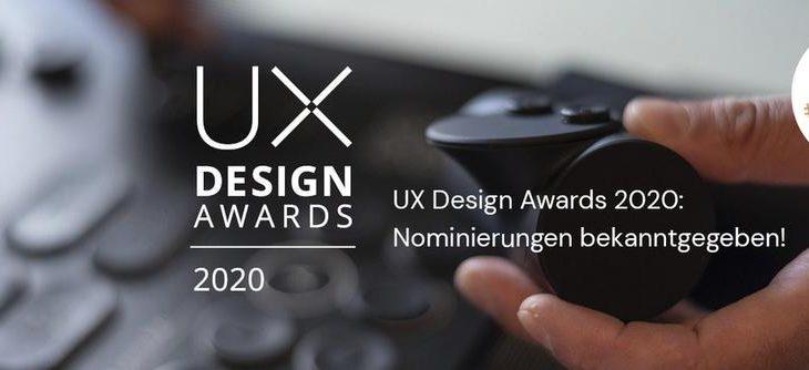UX Design Awards 2020: Nominierungen bekanntgegeben